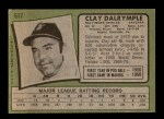 1971 Topps #617  Clay Dalrymple  Back Thumbnail