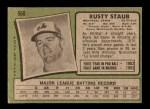 1971 Topps #560  Rusty Staub  Back Thumbnail