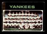 1971 Topps #543   Yankees Team Front Thumbnail