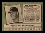 1971 Topps #700  Boog Powell  Back Thumbnail