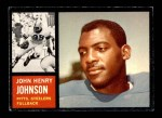 1962 Topps #129  John Henry Johnson  Front Thumbnail