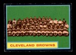 1962 Topps #37   Browns Team Front Thumbnail