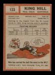 1962 Topps #123  King Hill  Back Thumbnail