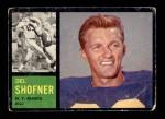1962 Topps #106  Del Shofner  Front Thumbnail