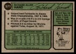 1974 Topps #571  Rich Hand  Back Thumbnail