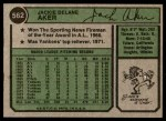 1974 Topps #562  Jack Aker  Back Thumbnail