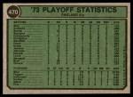 1974 Topps #470   -  Reggie Jackson / Rick Dempsey 1973 AL Playoffs Back Thumbnail