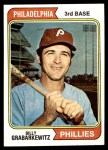 1974 Topps #214  Billy Grabarkewitz  Front Thumbnail