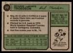 1974 Topps #77 WAS Rich Troedson  Back Thumbnail