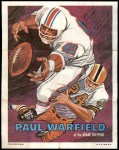 1970 Topps Poster #22  Paul Warfield  Front Thumbnail