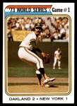 1974 Topps #472   -  Darold Knowles 1973 World Series - Game #1  Front Thumbnail