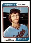 1974 Topps #26  Bill Campbell  Front Thumbnail