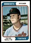 1974 Topps #636  Dave Goltz  Front Thumbnail