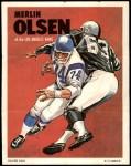 1970 Topps Poster #17  Merlin Olsen  Front Thumbnail