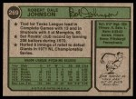 1974 Topps #269  Bob Johnson  Back Thumbnail