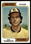 1974 Topps #77 SD Rich Troedson  Front Thumbnail