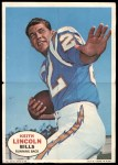 1968 Topps Poster #13  Keith Lincoln  Front Thumbnail