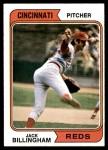 1974 Topps #158  Jack Billingham  Front Thumbnail