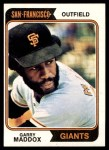 1974 Topps #178  Garry Maddox  Front Thumbnail
