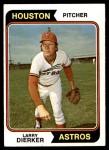 1974 Topps #660  Larry Dierker  Front Thumbnail