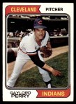 1974 Topps #35  Gaylord Perry  Front Thumbnail