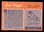 1970 Topps #15  Bob Vogel  Back Thumbnail