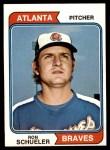 1974 Topps #544  Ron Schueler  Front Thumbnail