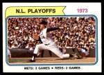1974 Topps #471  Jon Matlock 1973 NL Playoffs Front Thumbnail