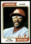 1974 Topps #70  Rich Allen  Front Thumbnail