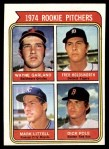 1974 Topps #596   -  Wayne Garland / Fred Holdsworth / Mark Littell / Dick Pole Rookie Pitchers   Front Thumbnail