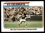1974 Topps #479   -  Darold Knowles / Ray Fosse 1973 World Series - A's Celebrate Front Thumbnail