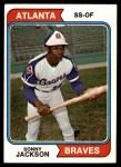 1974 Topps #591  Sonny Jackson  Front Thumbnail