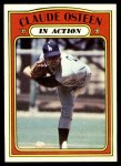 1972 Topps #298   -  Claude Osteen In Action Front Thumbnail
