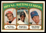 1972 Topps #85   -  Glenn Beckert / Ralph Garr / Joe Torre NL Batting Leaders   Front Thumbnail