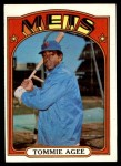 1972 Topps #245  Tommie Agee  Front Thumbnail