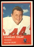 1963 Fleer #34  Charles Tolar  Front Thumbnail