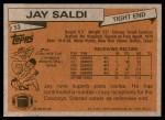 1981 Topps #53  Jay Saldi  Back Thumbnail
