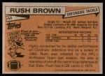 1981 Topps #54  Rush Brown  Back Thumbnail