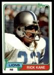 1981 Topps #66  Rick Kane  Front Thumbnail