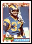 1981 Topps #98  Jewerl Thomas  Front Thumbnail