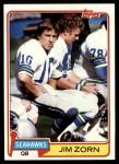 1981 Topps #125  Jim Zorn  Front Thumbnail