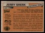 1981 Topps #149  Jerry Sherk  Back Thumbnail