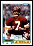 1981 Topps #165  Joe Theismann  Front Thumbnail