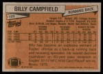 1981 Topps #199  Billy Campfield  Back Thumbnail