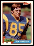1981 Topps #205  Jack Youngblood  Front Thumbnail