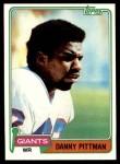 1981 Topps #206  Danny Pittman  Front Thumbnail