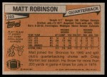 1981 Topps #223  Matt Robinson  Back Thumbnail