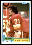 1981 Topps #349  Karl Lorch  Front Thumbnail
