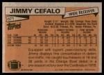 1981 Topps #371  Jimmy Cefalo  Back Thumbnail