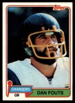 1981 Topps #265  Dan Fouts  Front Thumbnail